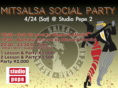 4/24 (Sat) Mitsalsa Social Party