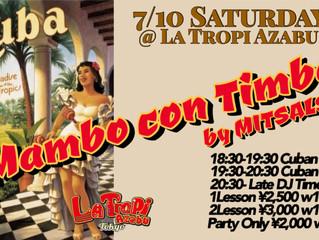 7/10 (Sat) Mambo con Timba @ La Tropi