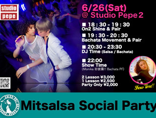 7/31 (Sat) Mitsalsa Social Party