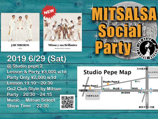 ● 6 / 29(土)Mitsalsa Social Party