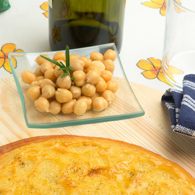 Typical Italian chickpeas rustic cake .j