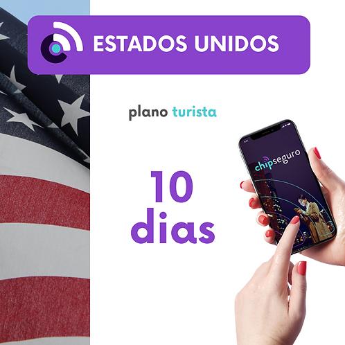 Plano Estados Unidos - 10 dias Ilimitado