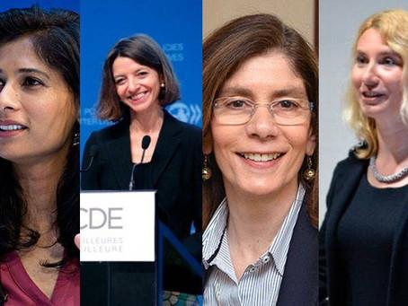 FMI, Banco Mundial, OCDE e ERDB têm agora economistas-chefe mulheres