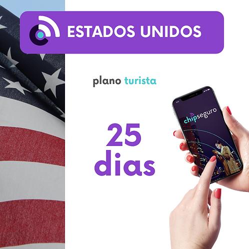 Plano Estados Unidos - 25 dias Ilimitado