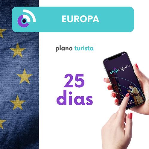 Plano Europa - 25 dias Ilimitado