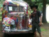 Further bus with hawaiian cowboy