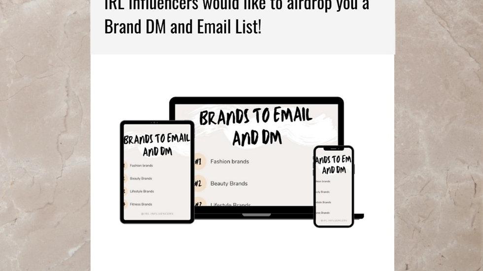 Brands Dm/Email List