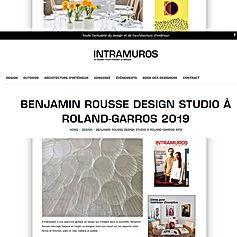 BENJAMIN ROUSSE DESIGN STUDIO DANS INTRA