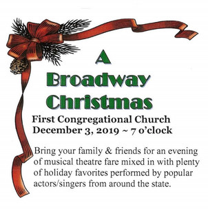 CANCELED  December 3rd - A Broadway Christmas