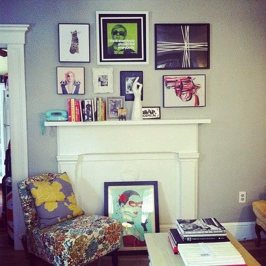 apartment therapy arranjos de parede