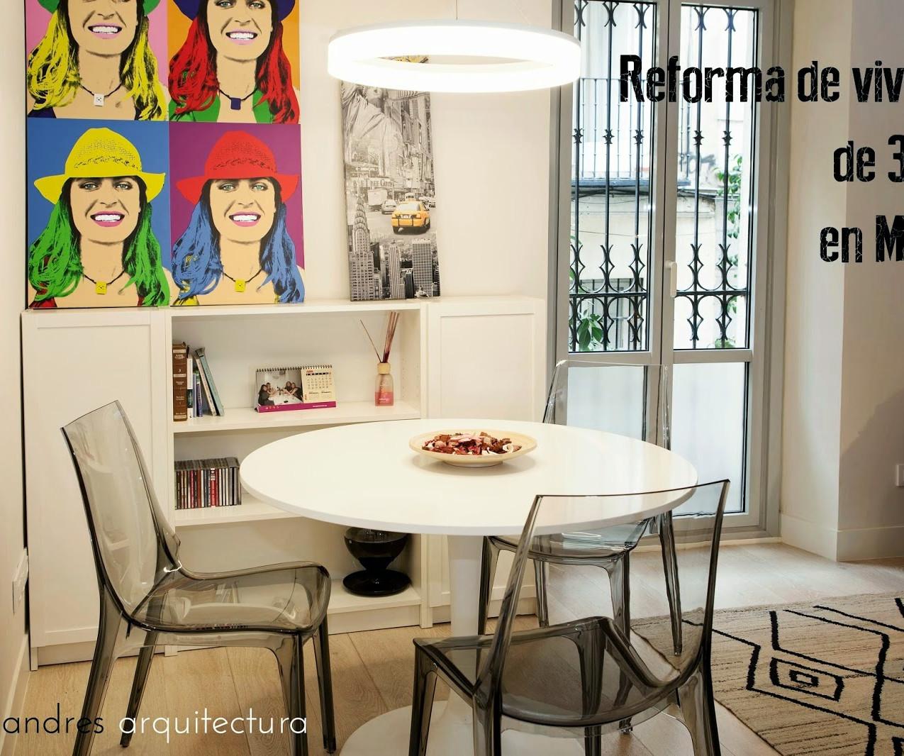 PORTADA reforma 30 m2 en Madrid blanco vintage