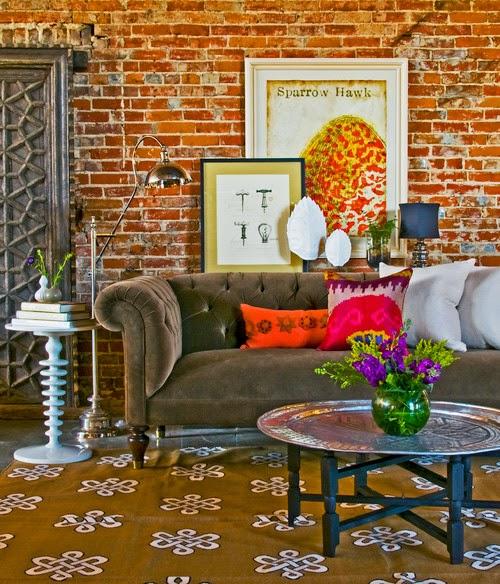 eclectic-living-room tijolinho