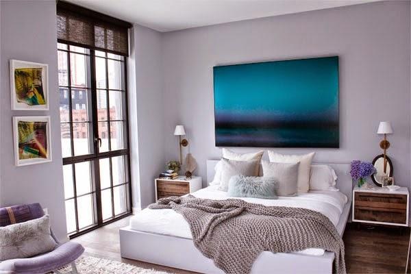 dormitorio-moderno-en-blanco apartamento de Athena Calderone