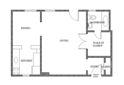 Só 43 m²