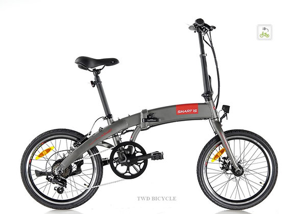 Apollo SMART 1S (Charcoal) 35 Speed 20' Foldable Ebike. LTA Approved PAB