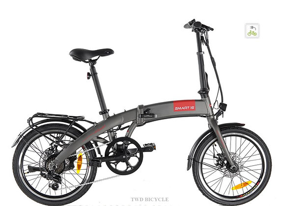 """SMART1S PLUS (CHARCOAL GREY) 35-speed 20"""" Foldable PAB LTA Approved PAB"""