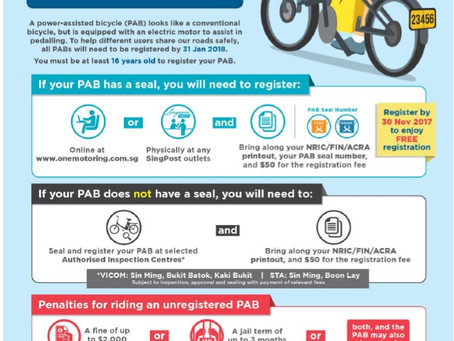 What do you need to know if you own or want to buy e-bike in Singapore