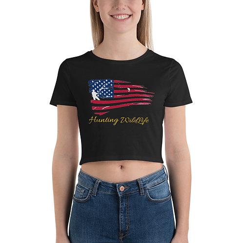 American Women's Crop Tee