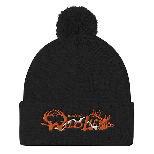 Pom Pom Knit Cap Hunting Wildlife