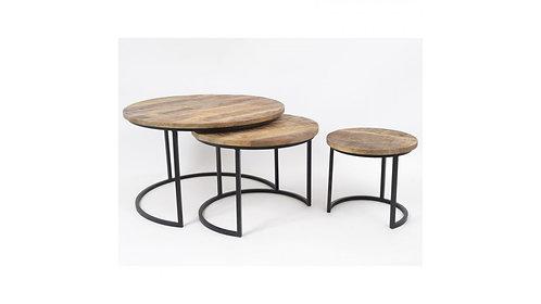 Lot de 3 Tables Rondes -ABISKO