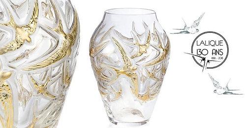 Vase Hirondelles 130 ans - Lalique