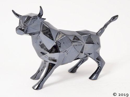 Statue - Taureau Noir Mat- BULL