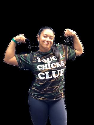 Tough Chicks Club - Camo T-shirt