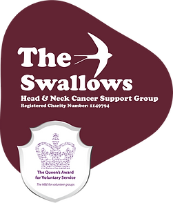 Swallows Logo with the Queen's Award for Voluntary service
