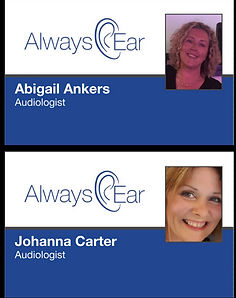 Johanna Carter and Abigail Ankers images with Audiologist title
