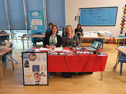 Mereside academy open day with Abigail and Johanna in attendance