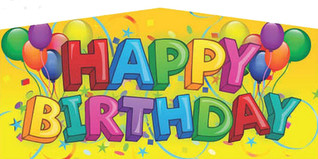 Yellow happy Birthday #9