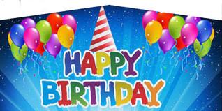 Blue Happy Birthday #010