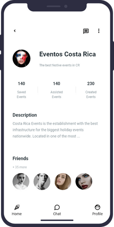 event oganizer´s profile