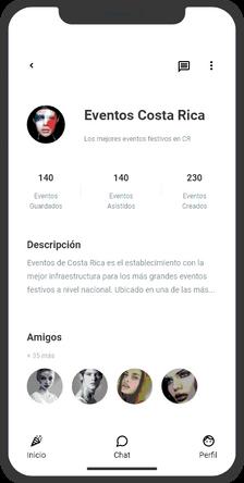 perfil de eventos y actividades