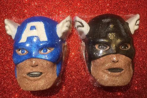 Captain America bathbomb