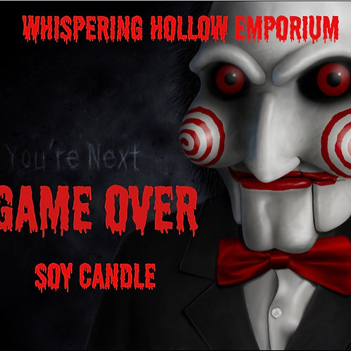 Game Over soy candle 4oz