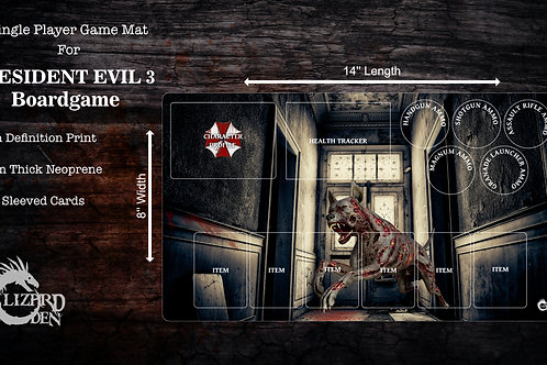 Custom game mat compatible with Resident Evil 3