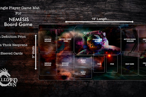 Custom game mat compatible with Nemesis
