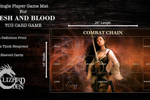 Custom game mat compatible with Flesh and Blood TCG