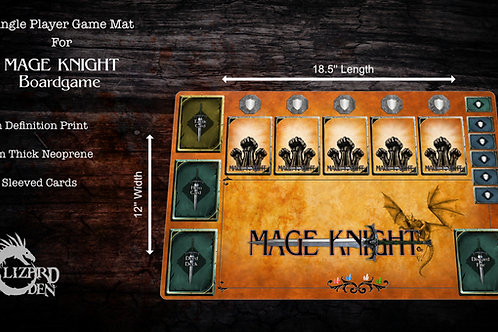 Mage Knight Custom Made Game Mat