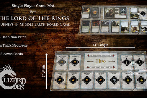 Lord Of The Rings Journeys In Middle-Earth Custom Made Game Mat