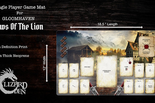 Custom Game Mat Compatible with Gloomhaven Jaws Of The Lion