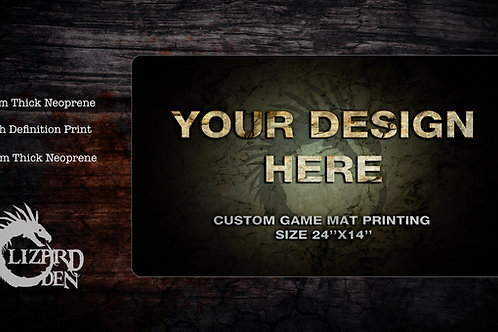 Custom Made Game Mat Printing