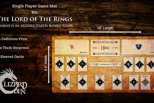 Lord of the Rings Journeys in Middle Earth Custom Made Game Mat Large