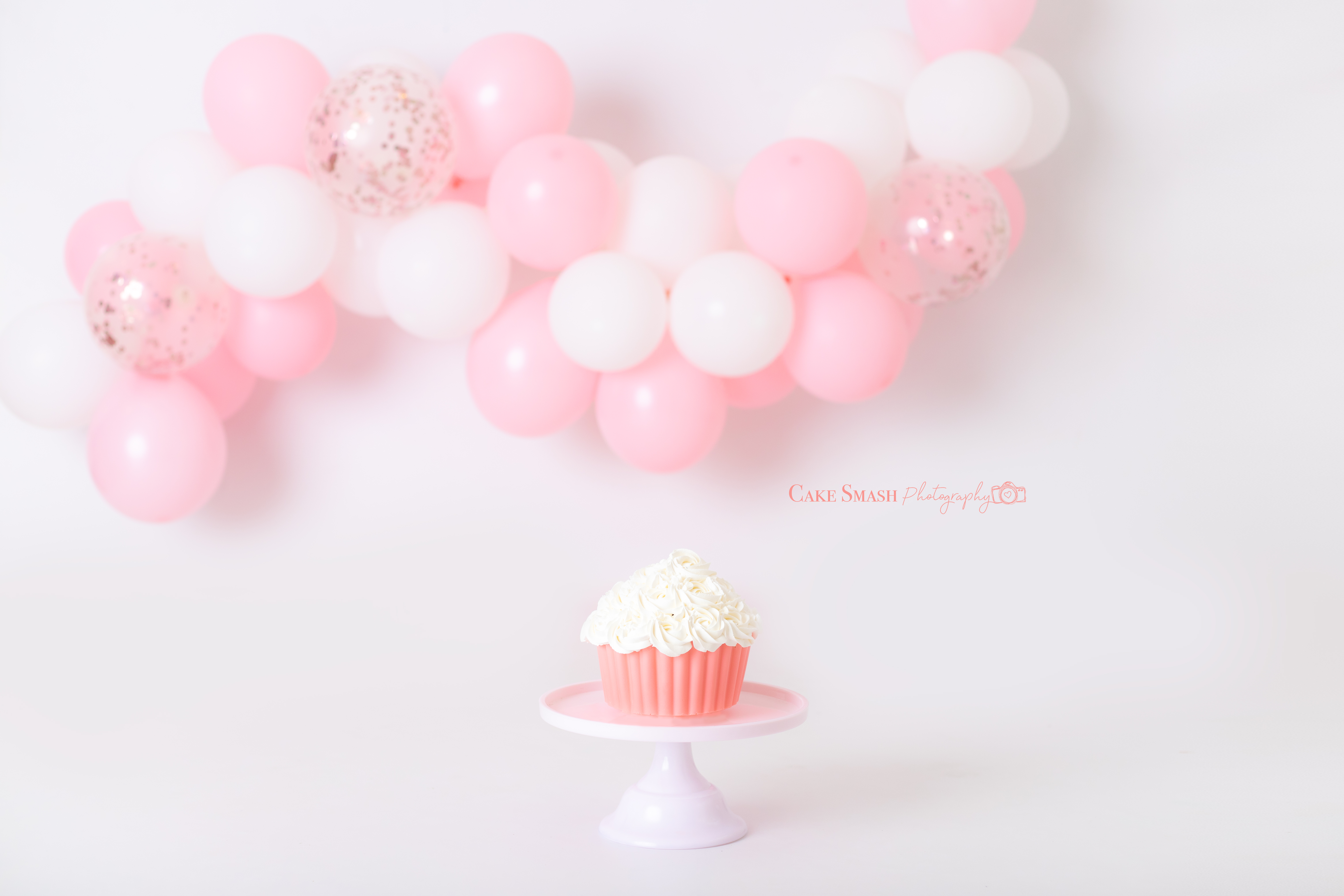 Soft peachy pink balloons