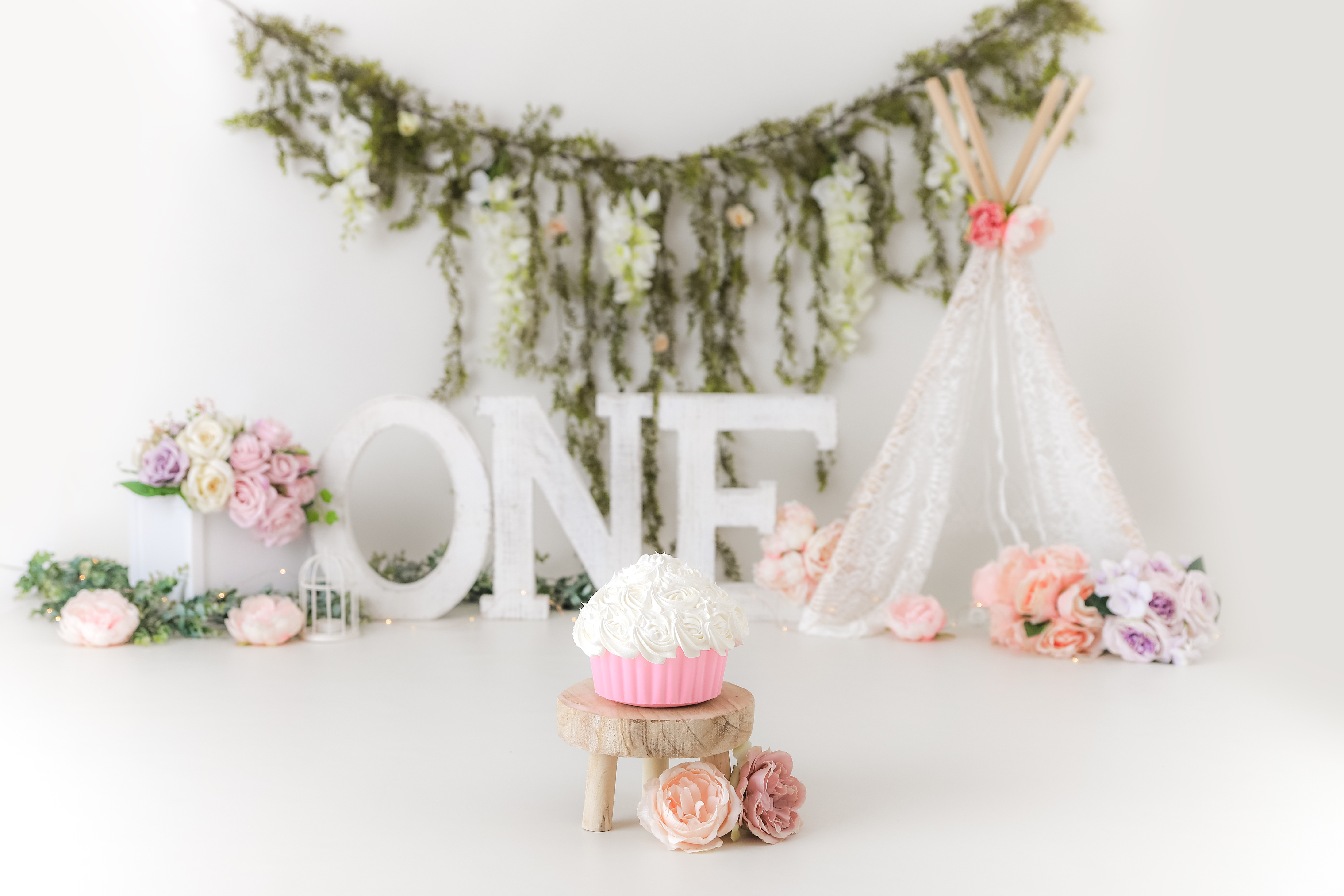 rustic floral pinks
