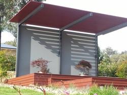 Cantilever patio