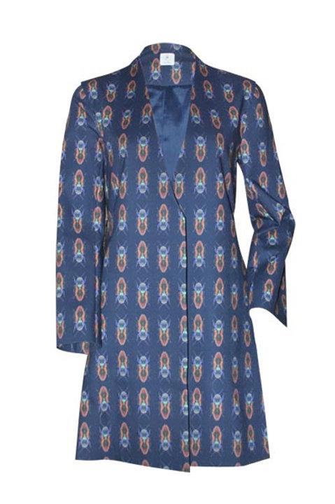 Mantel Coat blau