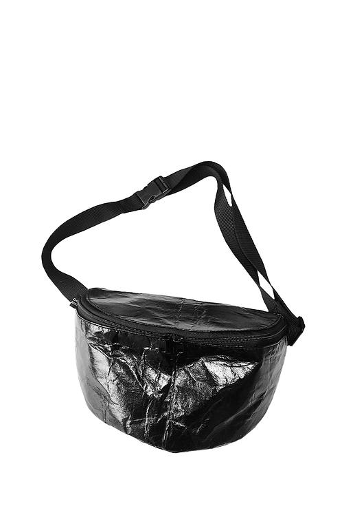 Gürteltasche L PINATEX® metallic black