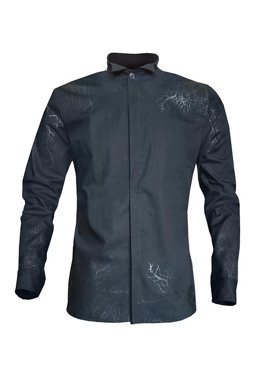 Raices Black Button Down Shirt